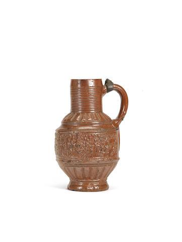 A stoneware Raeren stein, dated 1585
