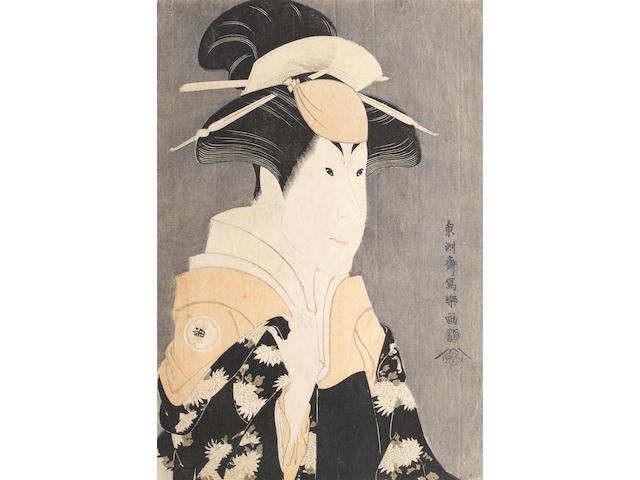 Toshusai Sharaku (fl.circa 1794-1795) Segawa Tomisaburo II as Yadorigi