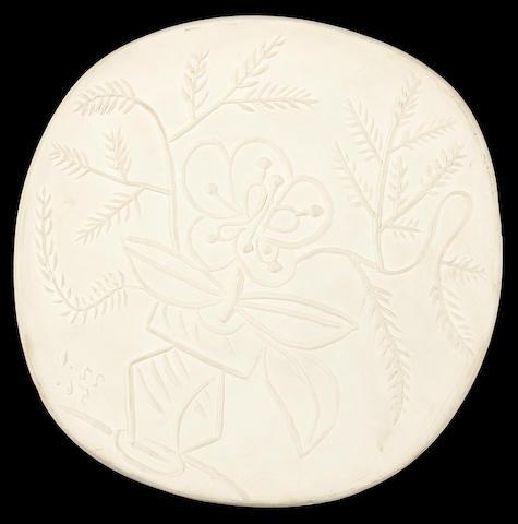 Pablo Picasso (Spanish, 1881-1973) Vase au bouquet 24.8cm (9 3/4in) diameter