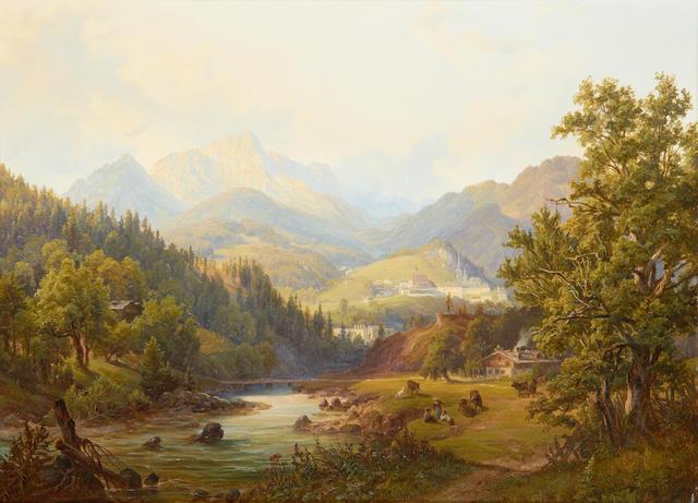 Anton Schiffer (Austrian, 1811-1876) Alpine landscape