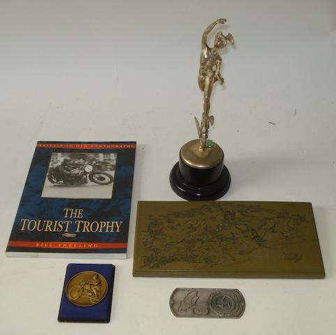 A TT Silver Replica trophy,
