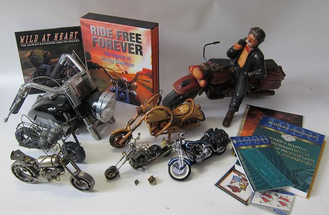 Harley-Davidson related collectables,