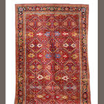 A large an impressive Heriz design carpet 1160cm x 490cm