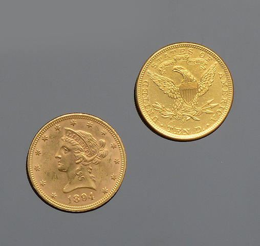 Two 10 dollar coins (2)