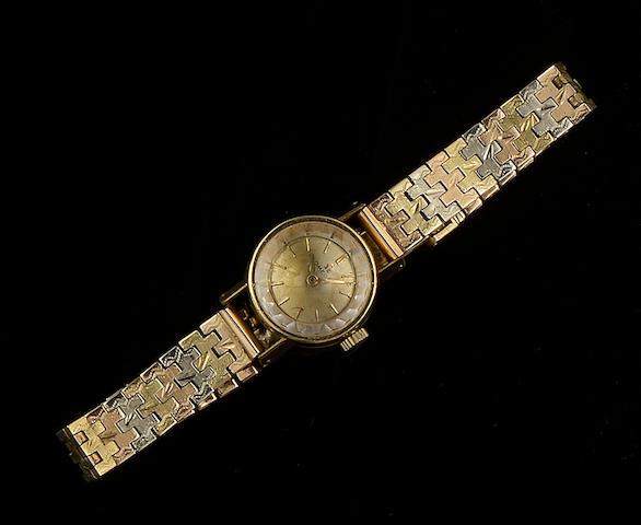Omega: A lady's wristwatch