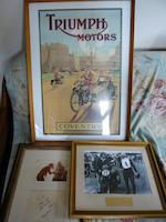 An archive of TT related signed items and ephemera,