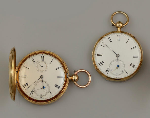 Two 18ct gold pocket watches(2)