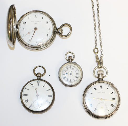 A collection of pocket watches, (4)
