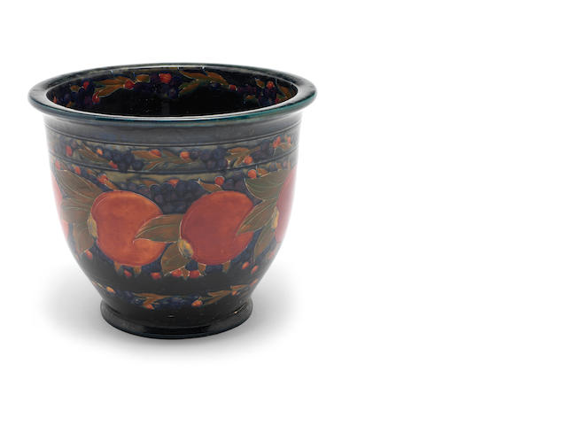 William Moorcorft 'Pomegranate' a Large Jardiniere, 1917