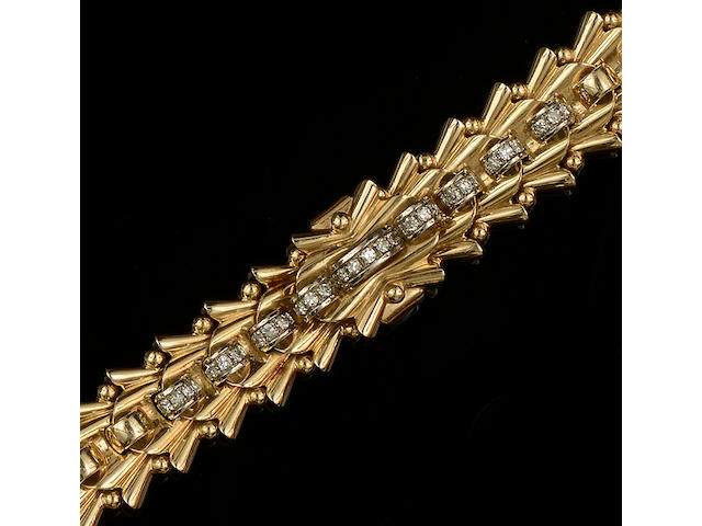 Vacherin & Constantin: An 18ct gold and diamond dress watch