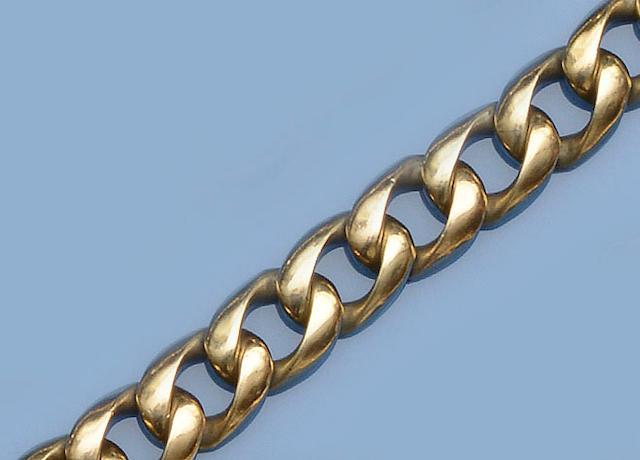 A curb-link bracelet