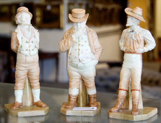 Three Royal Worcester figures by James Hadley,