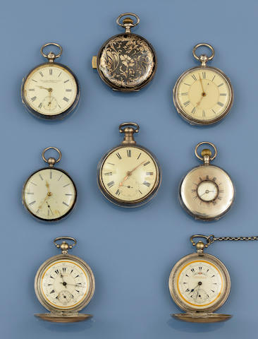 A collection of pocket watches (8)