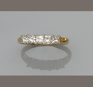 A five stone diamond ring