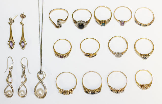 A quantity of rings and pendants etc