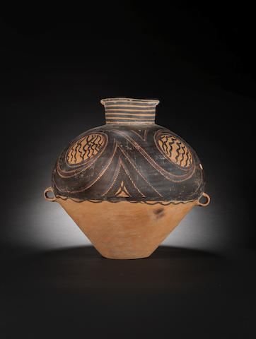 A Neolithic painted pottery jar of Banshan type Gansu, 3rd Millenium BC, Yangshao culture