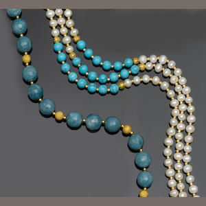 Two bead necklaces (2)