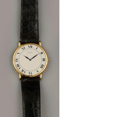 Piaget: A gentleman's 18ct gold wristwatch