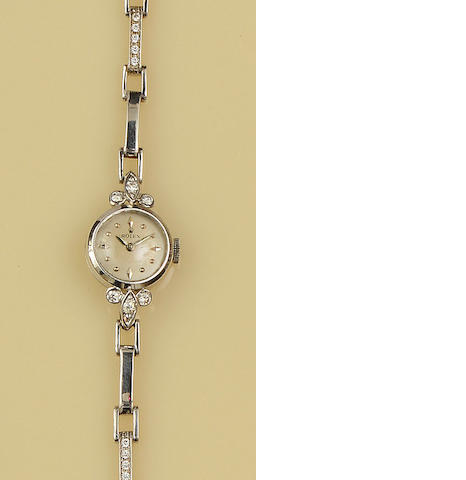 Rolex: A diamond set wristwatch