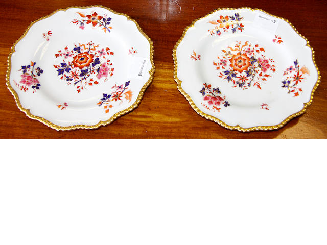 A pair of Flight Barr and Barr plates,