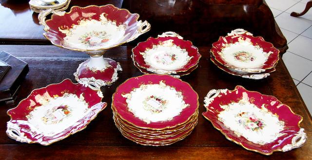 An fifteen piece Ridgeways dessert service,