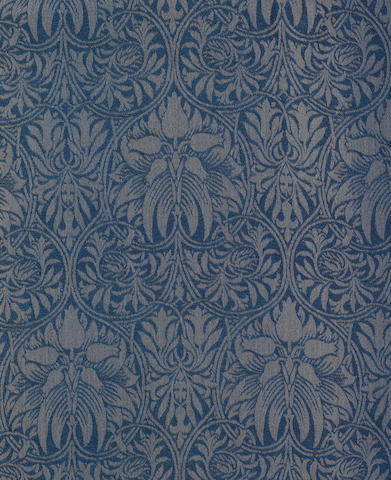 Morris & Co. 'Crown Imperial' a Pair of Woven Woollen Curtains, design 1876