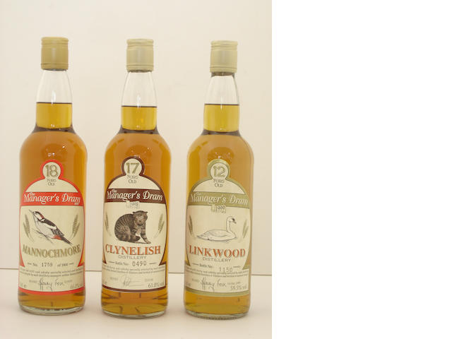 Mannochmore-18 year old<BR /> Clynelish-17 year old<BR /> Linkwood-12 year old