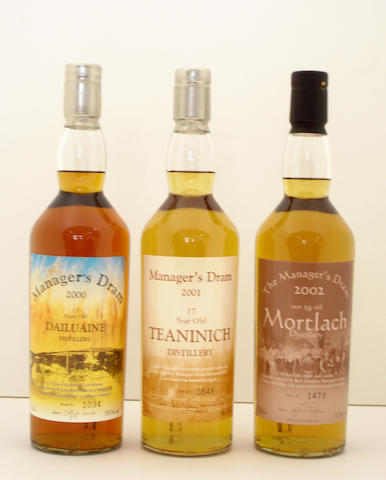 Dailuaine-17 year old  Teaninich-17 year old  Mortlach-19 year old