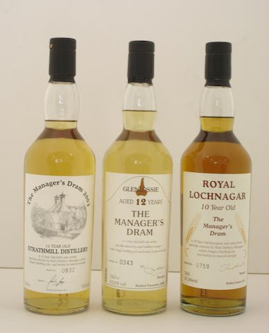 Strathmill-15 year old  Glenlossie-12 year old  Royal Lochnagar-10 year old