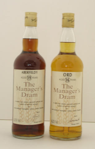 Aberfeldy-19 year old<BR /> Ord-16 year old
