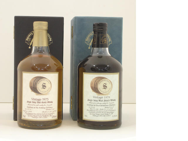 Ardbeg-18 year old-1975<BR /> Bunnahabhain-17 year old-1979