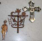 A collection of icons and religious artefacts