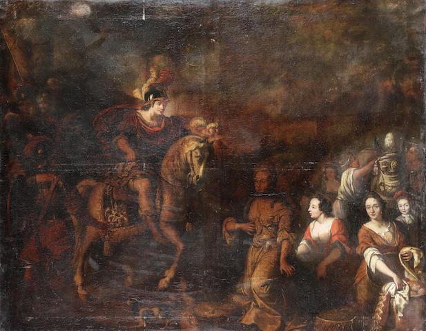 Circle of Jacobus Houbraken (Dordrecht 1698-1780 Amsterdam) David and Abigail unframed