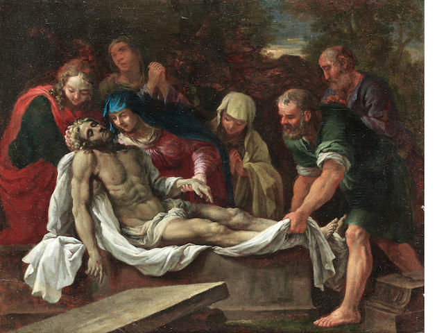 Venetian School, 17th Century The Entombment