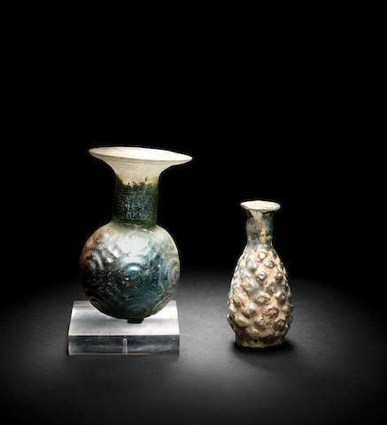 Two Roman glass flasks 2