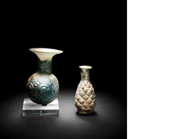 Two Roman glass flasks 2