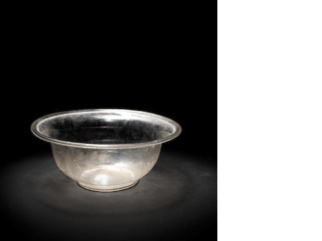 A Roman pale greenish-yellow glass bowl