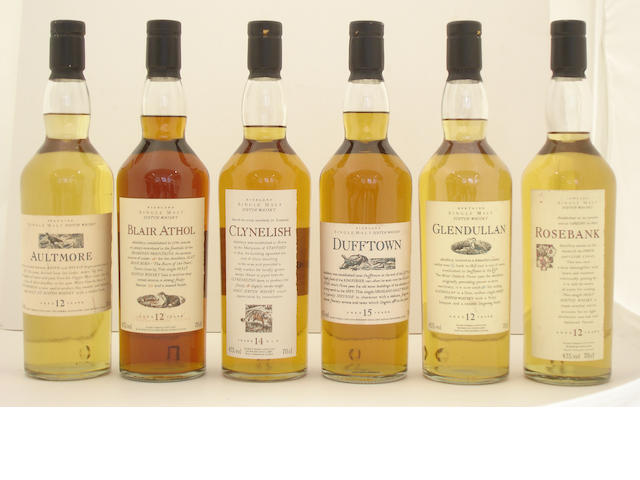 Aultmore-12 year old<BR /> Blair Athol-12 year old<BR /> Clynelish-14 year old<BR /> Dufftown-14 year old<BR /> Glendullan-12 year old<BR /> Rosebank-12 year old