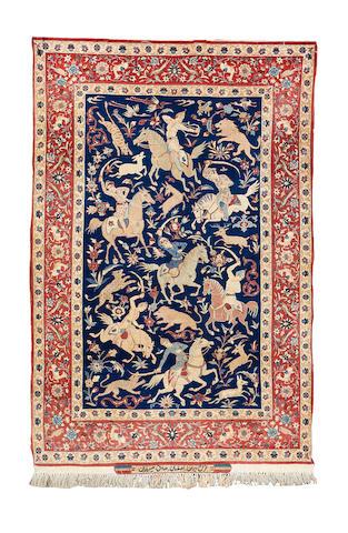 An Isfahan rug, Central Persia, 167cm x 112cm, signed S.Serafian, Esfahan