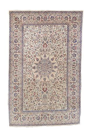 A Tudesh Nain rug, Central Persia, 241cm x 155cm