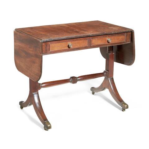 A small Regency mahogany sofa table
