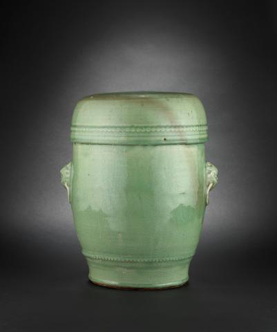 A celadon garden seat Ming Dynasty