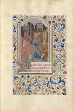 ILLUMINATED MANUSCRIPT. Psalterium secundum usum Ecclesiae Anglicanae, in English, attractively decorated Arts and Crafts style illuminated manuscript on vellum, [c.1900]