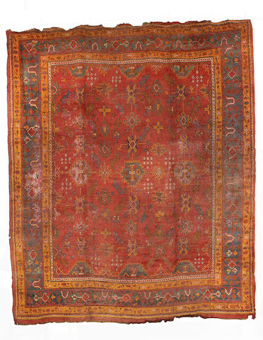 An Ushak carpet, West Anatolia, 498cm x 430cm