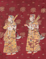 A group of painted textiles India 18th/19th century6
