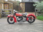 1935 Indian 1,265cc Four Engine no. DCE171B