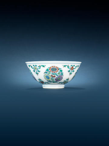 A doucai floral bowl Daoguang seal mark and of the period