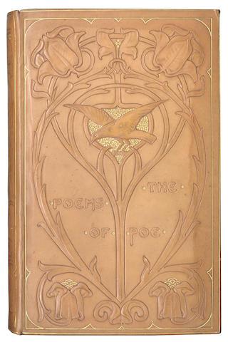BINDINGS -  POE (EDGAR ALLAN) The Poems, binding by Chivers, 1900