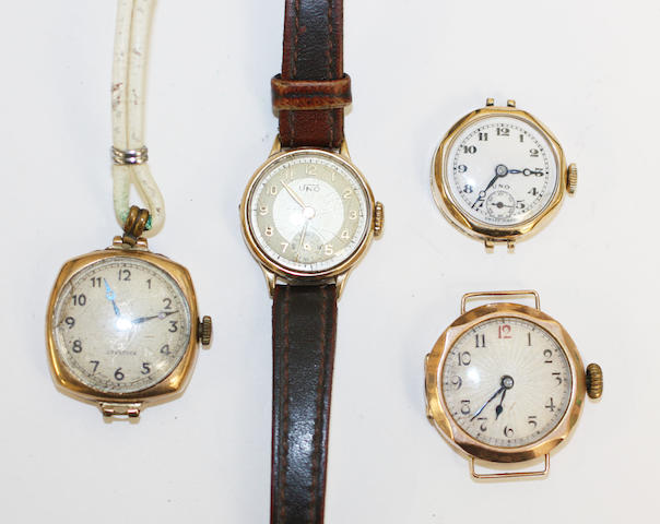 A collection of watches, (4)