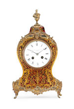 A late 19th century Boulle type mantel clockby the Goldsmiths & Silversmiths Company, 12 Regent Street, London,